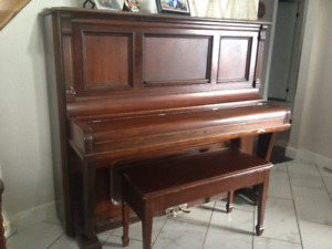 Upright Antique Piano & Bench