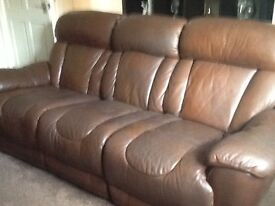 3+2+1 leather recliners £60