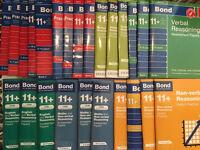 11plus books for grammar school Bonds CGP