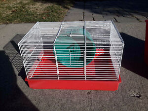 Hamster Cage with food, excercise ball and bedding