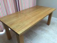 Solid Oak 8-seat dining table