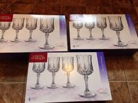 NEW in boxes. Crystal glasses