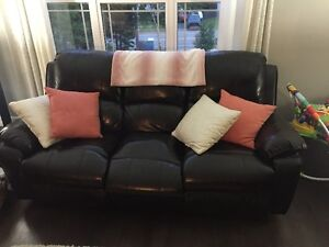 leather coach and loveseat recliners