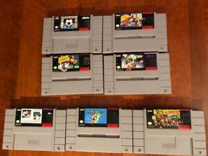 Super Mario World - Donkey Kong Country 2 - Super Nintendo lot