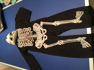 Halloween kids costume skeleton