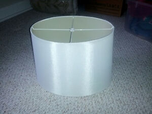 White Oval Lampshade