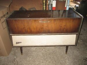 Vintage stereo cabinet and record holder