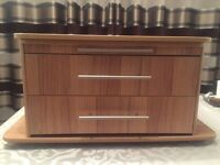 Bailey caravan front storage chest and drawers