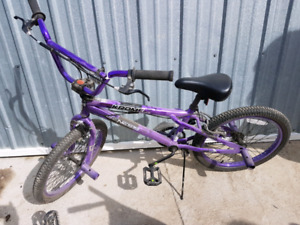 Purple BMX Bike