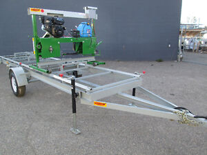 BAND SAW MILL FARMHAWK WITH TRAILER AND POWER SET WORKS 14HP Prince George British Columbia image 2