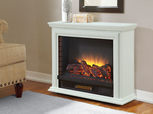 Sheridan Infrared Electric Fireplace Heater in White - GLF-5002-
