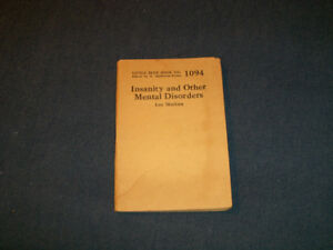 1920'S LITTLE BLUE BOOK NO. 1094-INSANITY & MENTAL DISORDERS