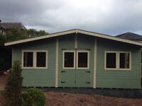 20ft x 10ft summerhouse/ shed/ office/ garden building