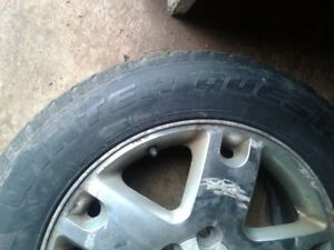 Set of 2 winter tires for sale plus 2 other matching rims