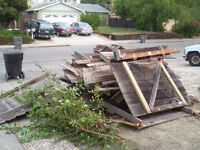 Demolition services for fence, railings, decking and retaining w