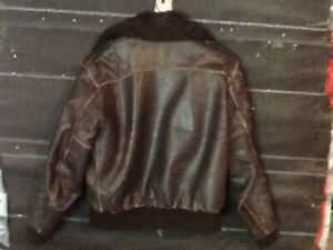 2 Brown leather motorcycle jackets
