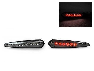 DEPO JDM Red LED Smoke Rear Bumper Side Marker Light For 2000-2003 Nissan Maxima