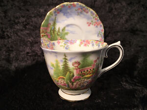 Royal Albert - Kentish Rockery - Tea Cup and Saucer - Mint !
