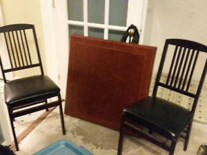 Folding Card Table and 2 Chairs