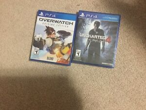 Mint Condition Overwatch and Uncharted 4 Together $95 Kitchener / Waterloo Kitchener Area image 2