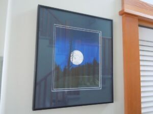 West Coast Art Print  /  Image: Full moon over evening forest