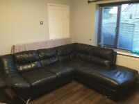 Leather Corner Sofa and Matching Chair