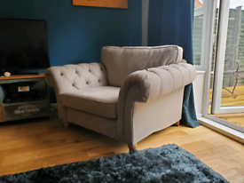Next Gosforth cuddle chair warm grey open to offers