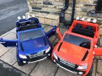 Ford Rangers 12v,Parental Remote & Self Drive,in White,Orange,Met Blue