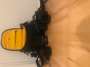 7D CANON CAMERA WITH 2 LENSES, CASE & MEMORY CARD