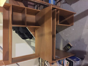 Free computer desk with hutch