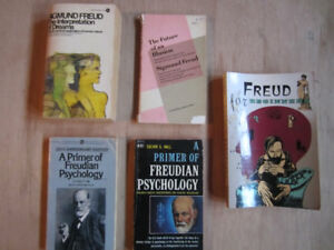 Sigmund Freud Collection of books some are older prints