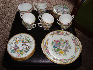 QUALITY 1930's MINTON FINE CHINA TEA SET