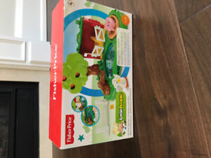 Fisher Price Little People Pond and Pig.