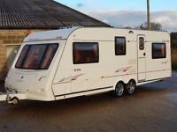 Elddis XSCAPE 636, 2005, 6 Berth, Twin Axle, Double Dinette, Optional Fixed Bed!