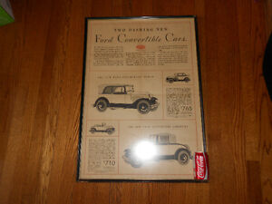 Antique Ford Convertible Advertisement Windsor Region Ontario image 3