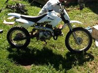 Smaller dirt bike with 110 cc 4 speed motor in it