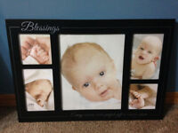 "NEW ""Blessings"" & used ""memories"" collage frame"