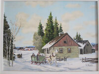"= = = = ORIGINAL OIL ON CANVAS SIGNED ""G. WHALEN"" = = = ="
