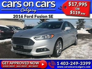 2016 Ford Fusion SE w/BackUp Cam, Heated Seats, BlueTooth $119B/