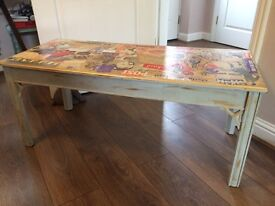 Retro 50s decoupage coffee table
