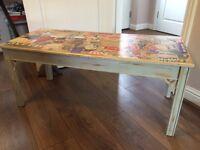 Retro 50s decoupage coffee table