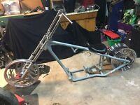 DNA ridged pro street chassis with papers Harley