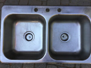 Sink - double stainless steel