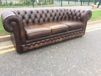 Chesterfield sofa ! Can delivery ! 3 seats sofa