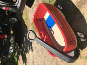 Radio Flyer wagon, flat bed or rail