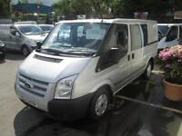 2012 12 FORD TRANSIT SIX SEAT DOUBLE CAB TREND MODEL METALLIC SILVER 2.2 TURBO