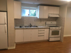 1 Bedroom basement apartment for rent in Clarkson/Mississauga