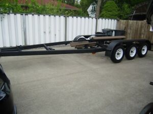 STEEL TRI AXLE BOAT TRAILER