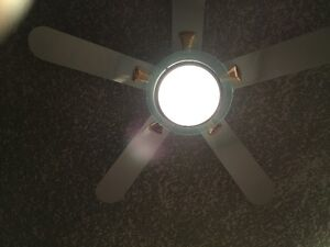 Deluxe chrome and white ceiling fan Edmonton Edmonton Area image 3