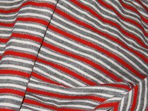 Tissu molleton de coton rayures gris noir rouge 50x150 cm for Fenetre 50x120